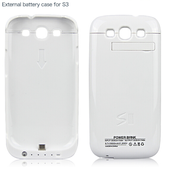 universal backup battery case for Samsung galaxy S3 3200mAh