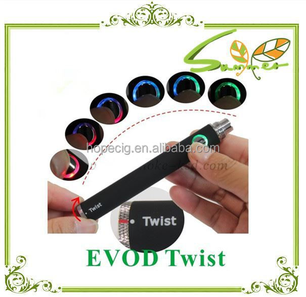 e cigarette variable voltage battery evod twist battery
