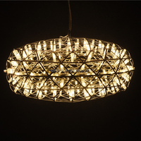 Modern silver oval stainless steel pendant light