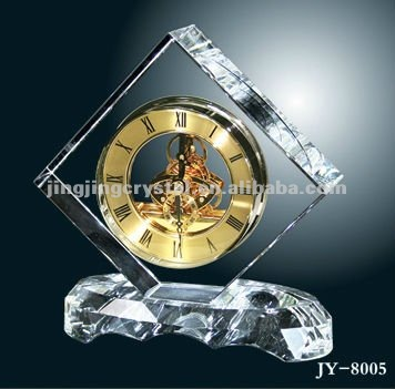 wholesale K9 crystal table clock for business gift
