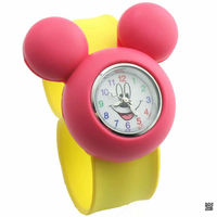 2015 hot selling new fashion studens mikey silicone slap watch, silicone slap bracelet watch