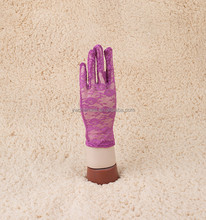 Purple Sexy 24cm Ladies Lace Gloves Driving Costume Evening Party