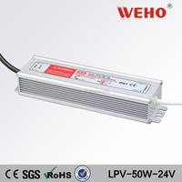 by UL certificated waterproof led driver 50w single output 24v 2.1a power supply