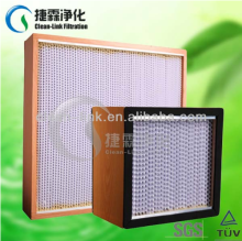 Good quality Wooden frame Air Filter -High Capacity HEPA Filter