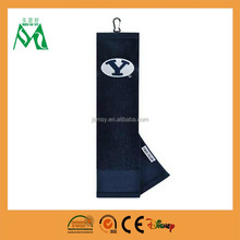 lowest price fancy quality best service satin borders golf towel wholesale