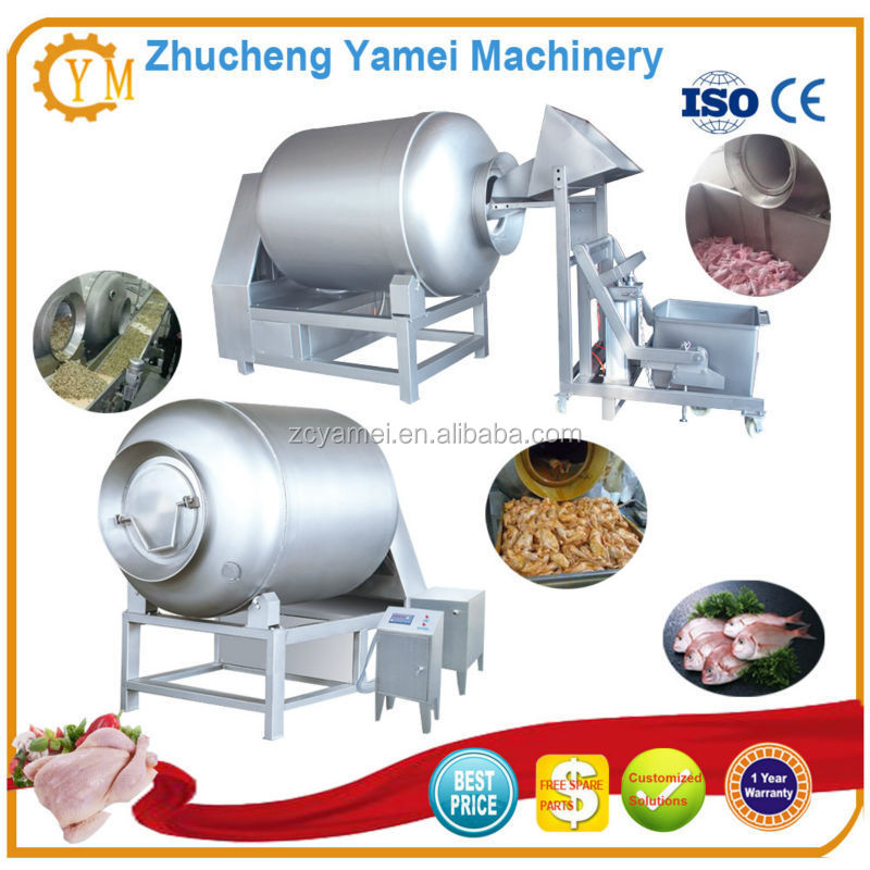 Rotary stainless steel drum meat marinating tumbler/electric meat tenderizer
