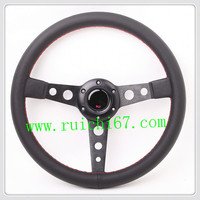 HOT SELL Sports Style Steering Wheel 360mm Leather Steering Wheel /OEM China Factory Brand Steering Wheel (5136)