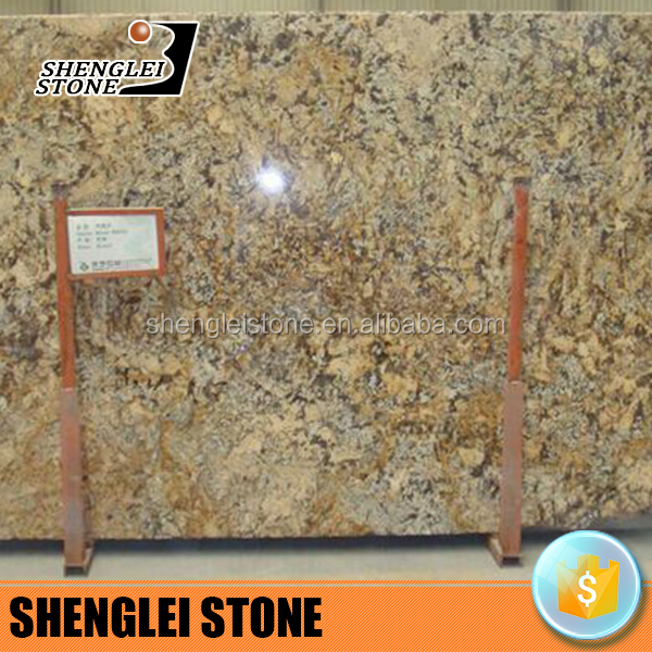 Persa gold yellow granite floor tiles 600x600 and granite countertop