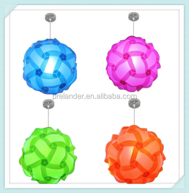 Contemporary Modern LED pendant Puzzle Round Plastic Lamp Shades with CE holder