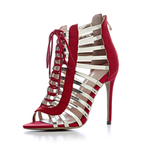 2018 custom sexy girls latest gladiator shoes women fancy high heel sandals