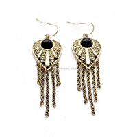 China Bronze Jewelry Wholesale Vogue Chains Tassel Earring Egypt Gold Earrings