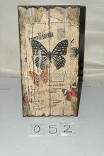 antique europe butterfly wooden signs decorative wall plaque