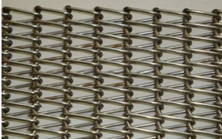 Balanced weave wire mesh belt conveyor belt