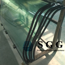 insulated curved glass panels saint gobain insulating glass, 6A 9A 12A 15A 20A curved insulated glass for building