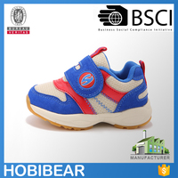 HOBIBEAR best sale navy walking shoes breathable baby slip on shoes