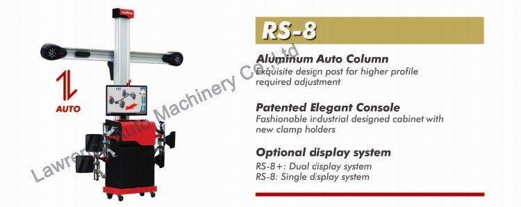 for 4S shop and workshop balancing machine and 3D wheel alignment machine RS-8