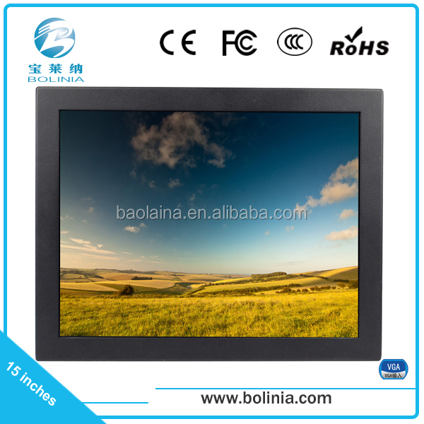 cheap 15 inch tft lcd industrial monitor 12v
