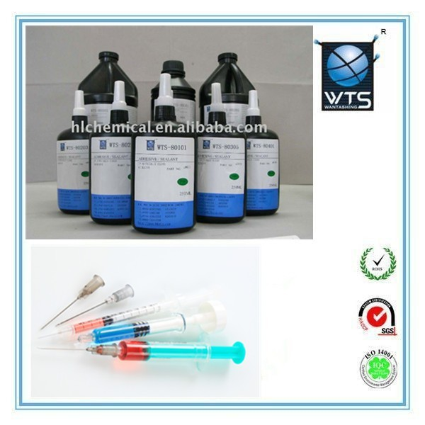 WTS-80201 medical grade uv cure adhesives glue