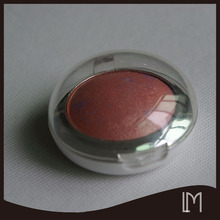 Egg shape high quality red color single eye shadow