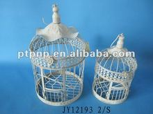 Beautiful design decorative Metal Bird Cage white bird cage with hook
