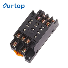 OURTOP Steel-Wire Hold Down Spring 11 Pin Automative Mini Relay Socket Base