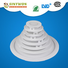 2017 hot selling! zhong shan factory ultra thin design good quality 3W-24w led ceiling panel light recessed round