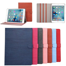 For ipad pro 9.7 leather case, Wooden pattern protective cover for ipad 9.7