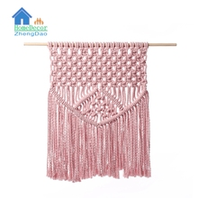 Manufacturers cotton wall hanging pure cotton hand made macrame wall tapestry