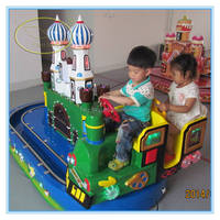Fwulong new theme park kids rotation game amusement electric arm track train