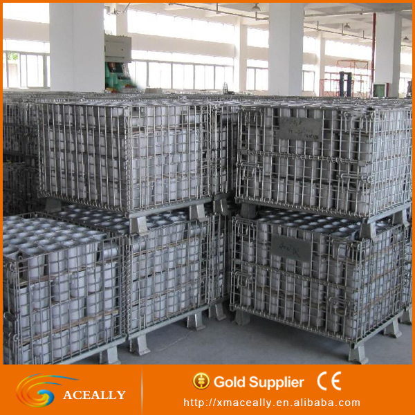 Galvanized durable foldable wire mesh roll containers sale