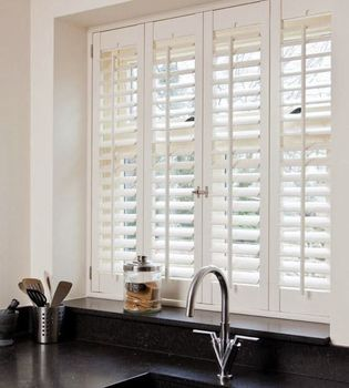 Vinyl shutters treatments plastic kitchen window shutters