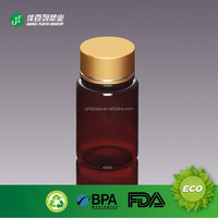 OEM 100ml Aluminum Cap Amber Color PET Plastic Bottle