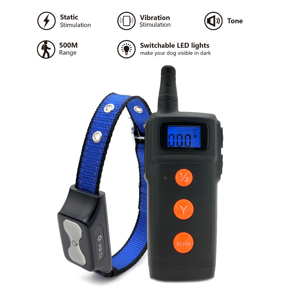 New Product LED light 4 in 1 function 300 meters remote control dog training collar