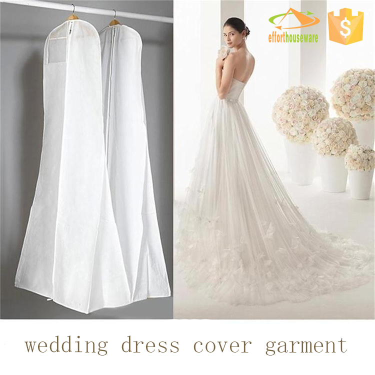 Long luxuriant wedding dress cover garment bag wholesale