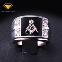 Newest design cz pave setting 925 sterling silver gay men ring