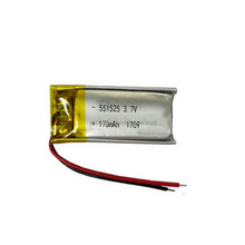 Small Li-ion polymer LP551525 170mAh 3.7V Li-polymer battery LiPo with PCM