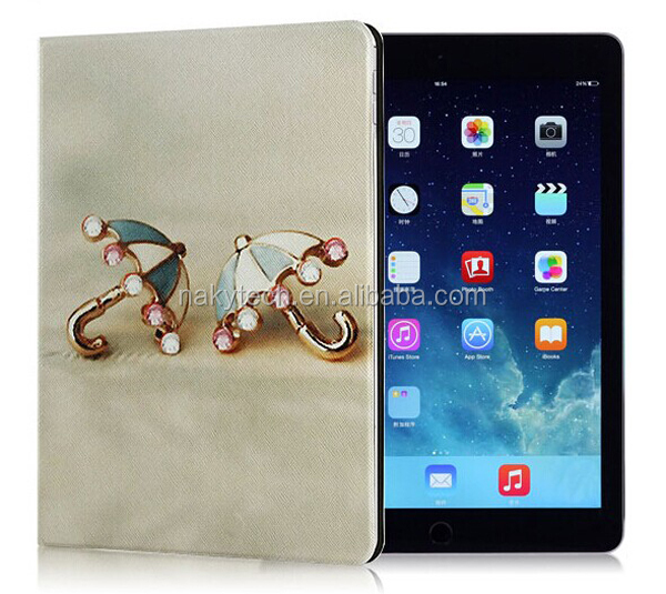 New Arrival Ultra Thin Slim PC PU Leather Stand Case For iPad 5/6