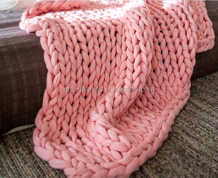 kids adults thick chunky soft wool hand knitted handmade throw