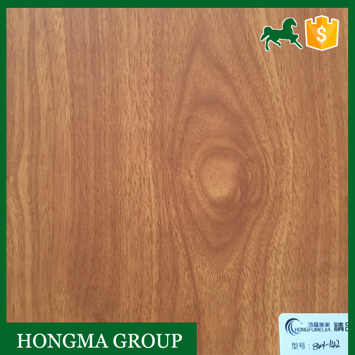Wood Grain Printed Decorative Paper / melamine paper decoration for furniture