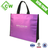 Eco-Friendly Polyester Trolley Reusable Folding Shopping Bag With 2 Wheels