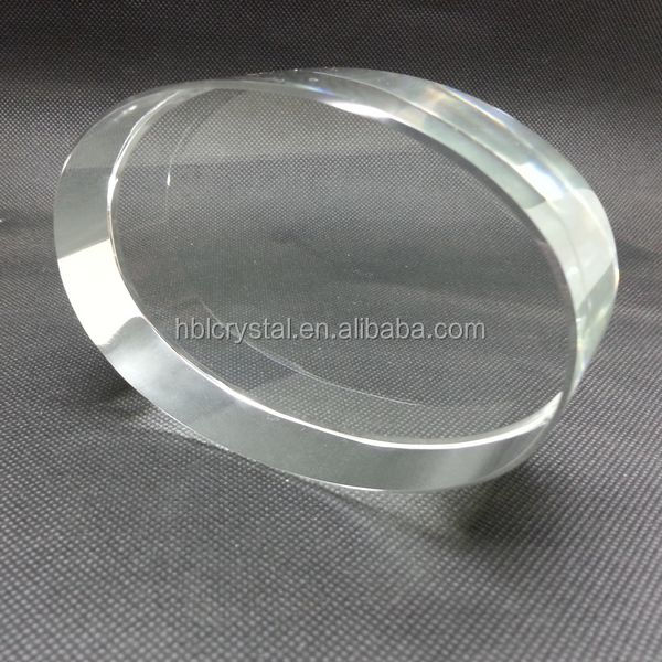 Fashion oval shape blank crystal paperweight for laser engraving