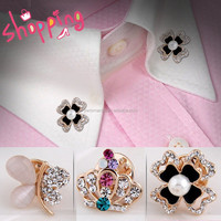 2015 Top Fashion Different Shapes Flower Crown Animal Horse Pin Shirt Collar Pins