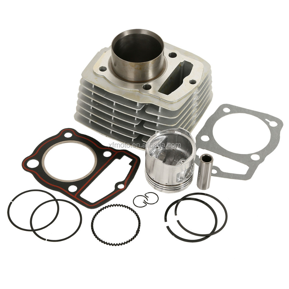 Silver Single Cylinder Enigne Top End Rebuild Kit For Honda CB CL 125S SL XL 125