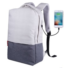 Wholesale canvas school computer laptop backpack bag with usb charge port for college