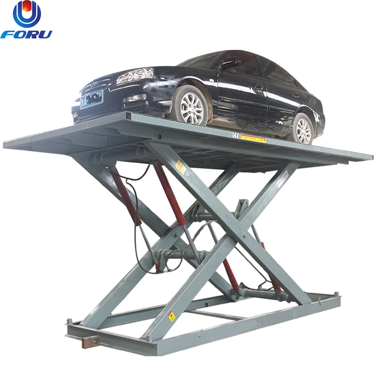 5m voltage customized stationary basement parking lift basement car lift