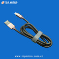 Wholesale 2A Round Metal Spring Data Line for iphone Micro Type C USB Charger Cable