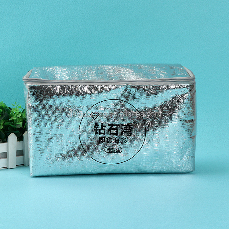 Factory Price Foldable Customized Logo Therm-O-Tote Insulated Non Woven Grocery Food Delivery Cooler Bag