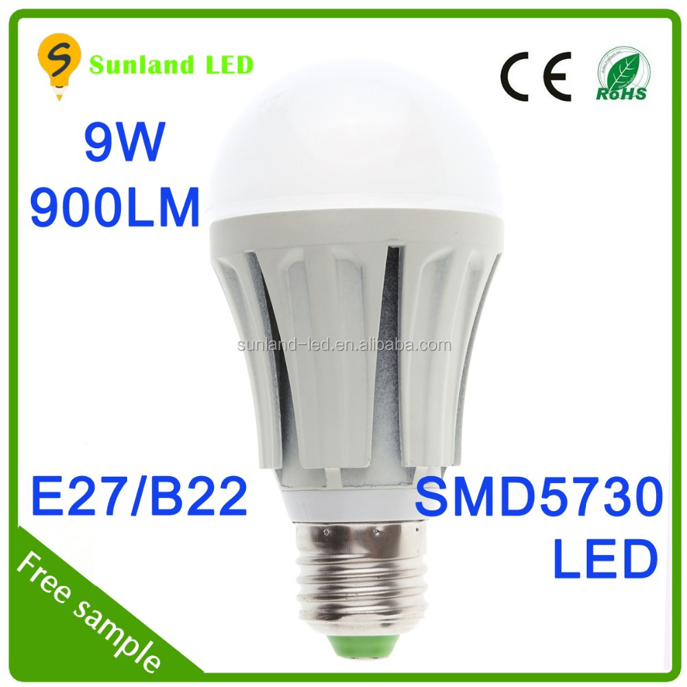 hot sale ce rohs shenzhen factory price indoor energy saving e27 led grow light bulb 9w