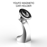 YOUFO 360 Rotation Car Mobile Phone Holder Magnetic Car Holder Cell Phone Stand