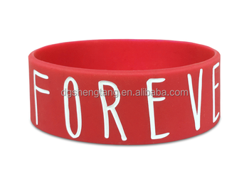 Custom 1 inch Wide Silicone Wristbands